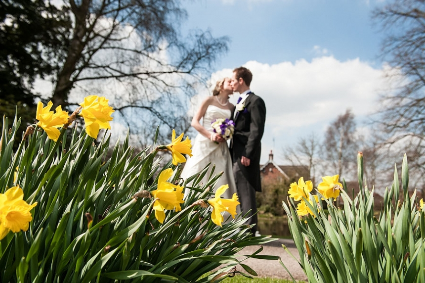 Stunning relaxed wedding portraits at Moat House in Acton Trussell by Reportage Wedding Photographer Barry James