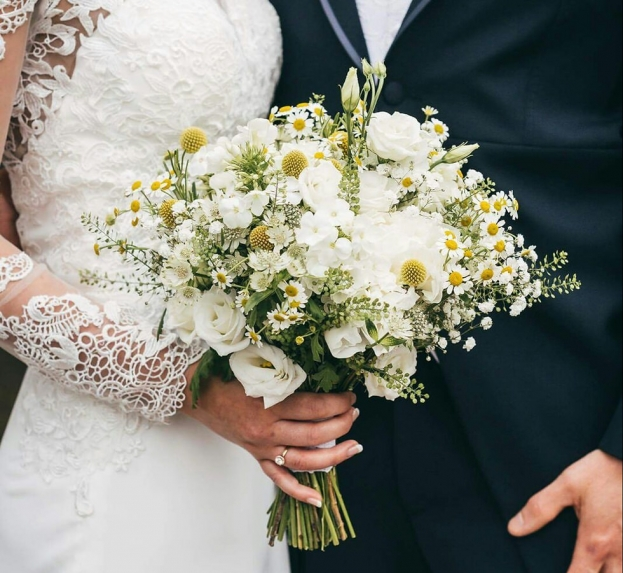 Bridal handtied bouquets and wedding flowers by Staffordshire Florist in Rugeley by Rugeley Floral Studio Fine Flowers