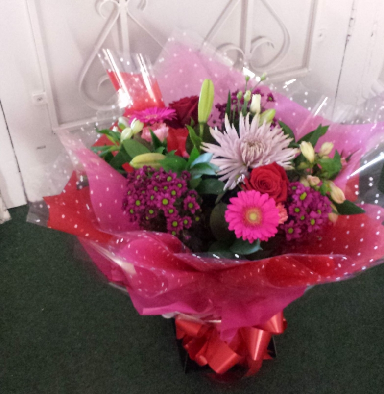 Handtied bouquets for your special occasion by Rugeley Florist Fine Flowers