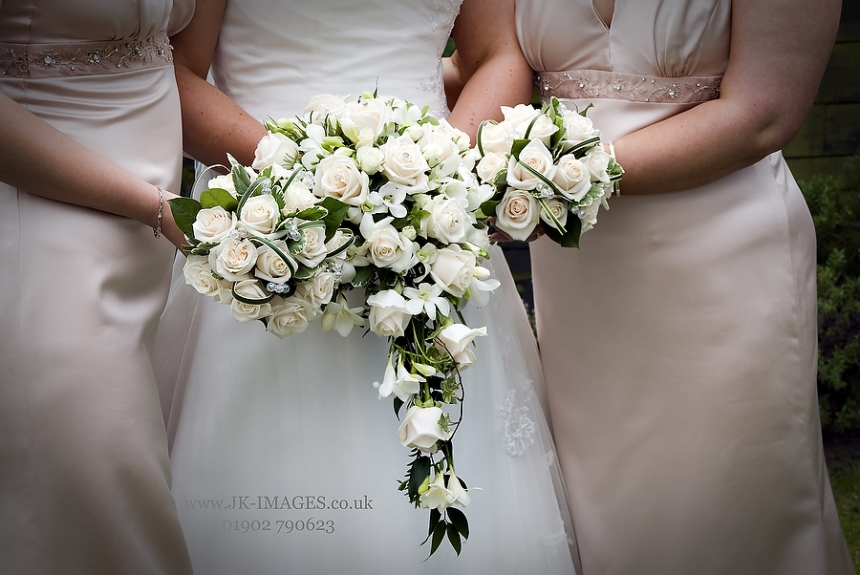 Traditional bridal hand shower bouquets - Rugeley Florist Weddings Fine Flowers