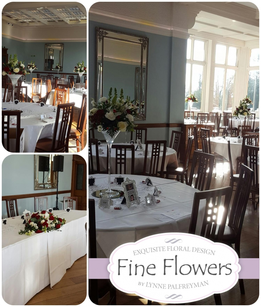 Pendrell Hall Wedding flowers by Staffordshire Florist in Rugeley by Fine Flowers