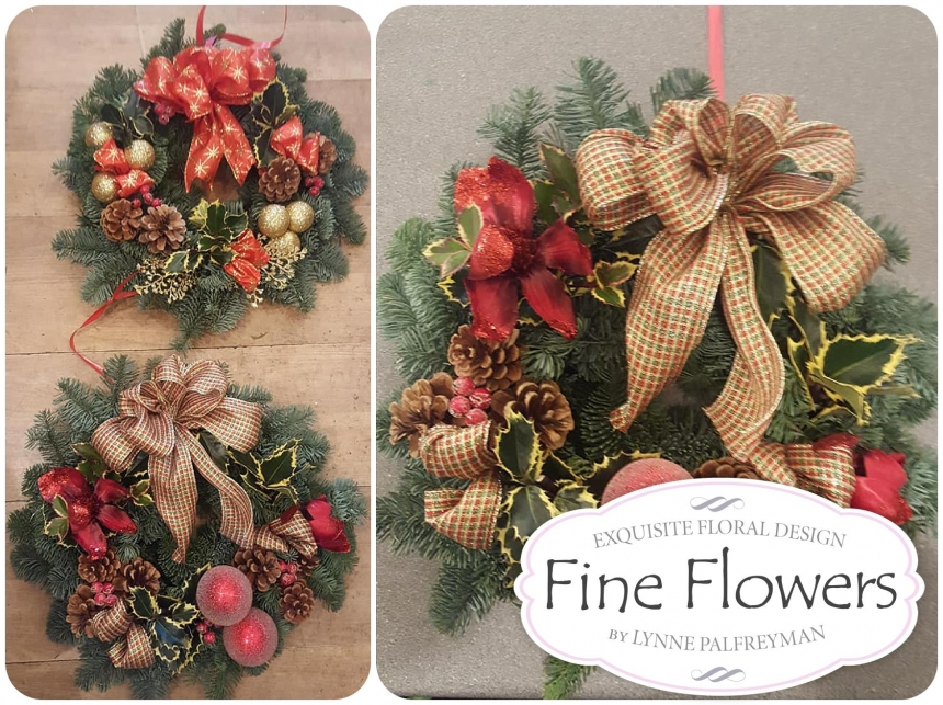 Christmas at Rugeley Florist Fine Flowers Christmas floral arrangements and gifts from Fine Flowers.