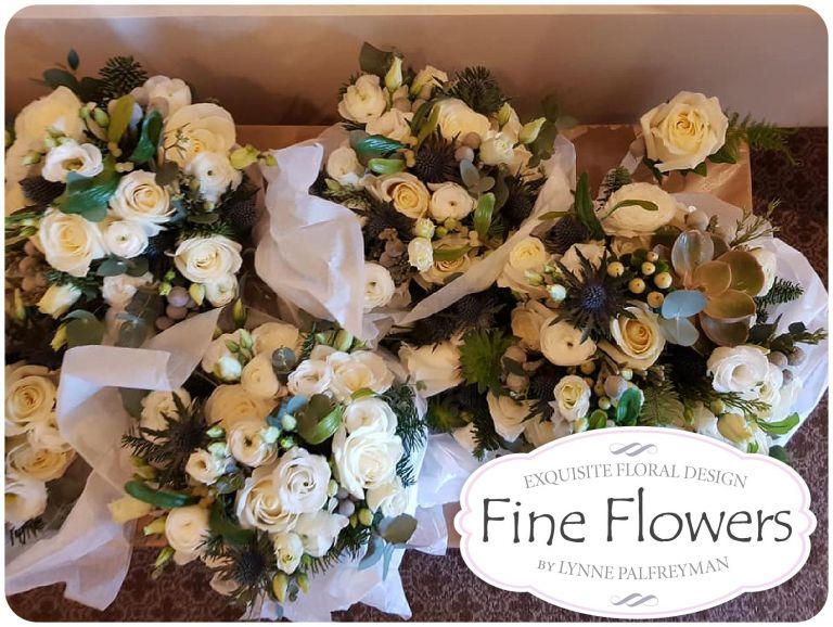 Christmas Wedding Bouquets Uk.Pendrell Hall Wedding Flowers For Becky Matt S Christmas