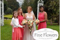 Wedding flowers for James + Rebecca's wedding by Rugeley Wedding Florist at Hawkesyard Estate by Rugeley Floral Studio Fine Flowers