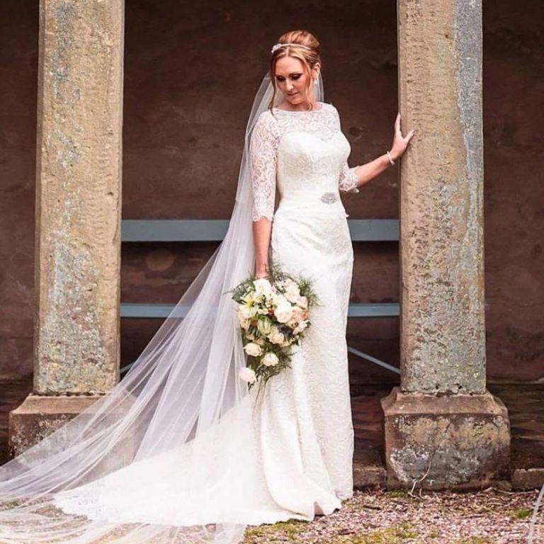 Timeless and elegant bridal handshower bouquet wedding flowers by Rugeley Florist - Rugeley Floral Studio Fine Flowers