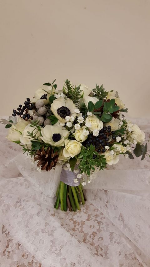 Winter wedding flowers by Rugeley Florist - Rugeley Floral Studio Fine Flowers