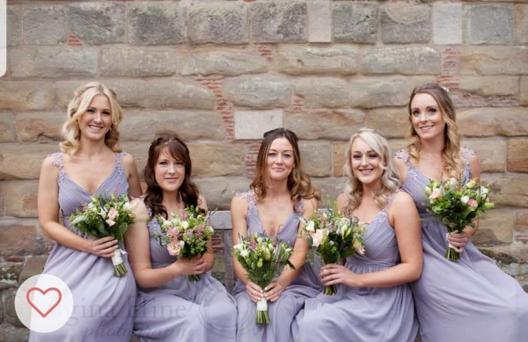 Bridesmaid handled wedding flowers by Rugeley Florist - Rugeley Floral Studio Fine Flowers