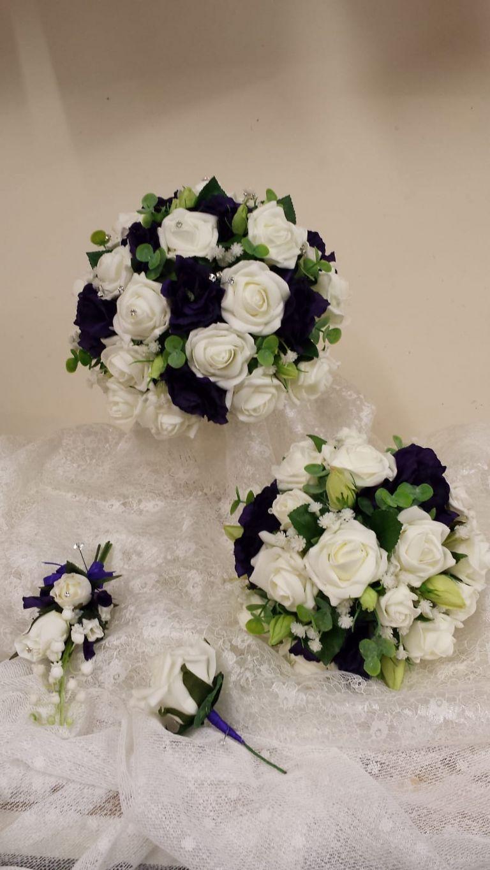 Silk wedding flowers by Rugeley Florist - Rugeley Floral Studio Fine Flowers