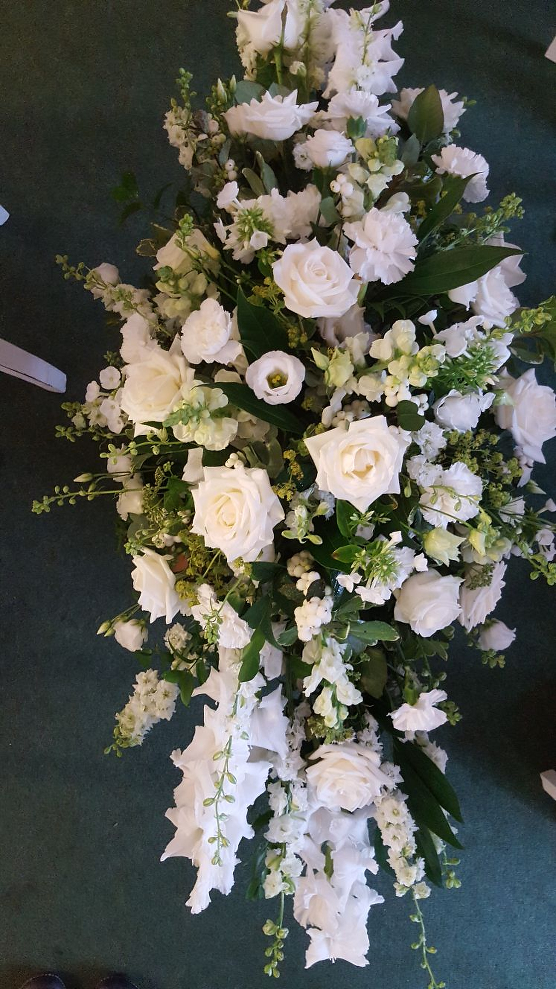 Funeral flowers and funeral floral arrangements by Rugeley Florist Fine Flowers
