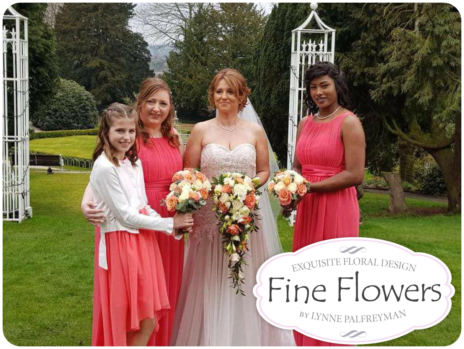 Wedding flowers for James + Rebecca's wedding by Rugeley Wedding Florist at Hawkesyard Estate by Rugeley Floral Studio Fine Flowers