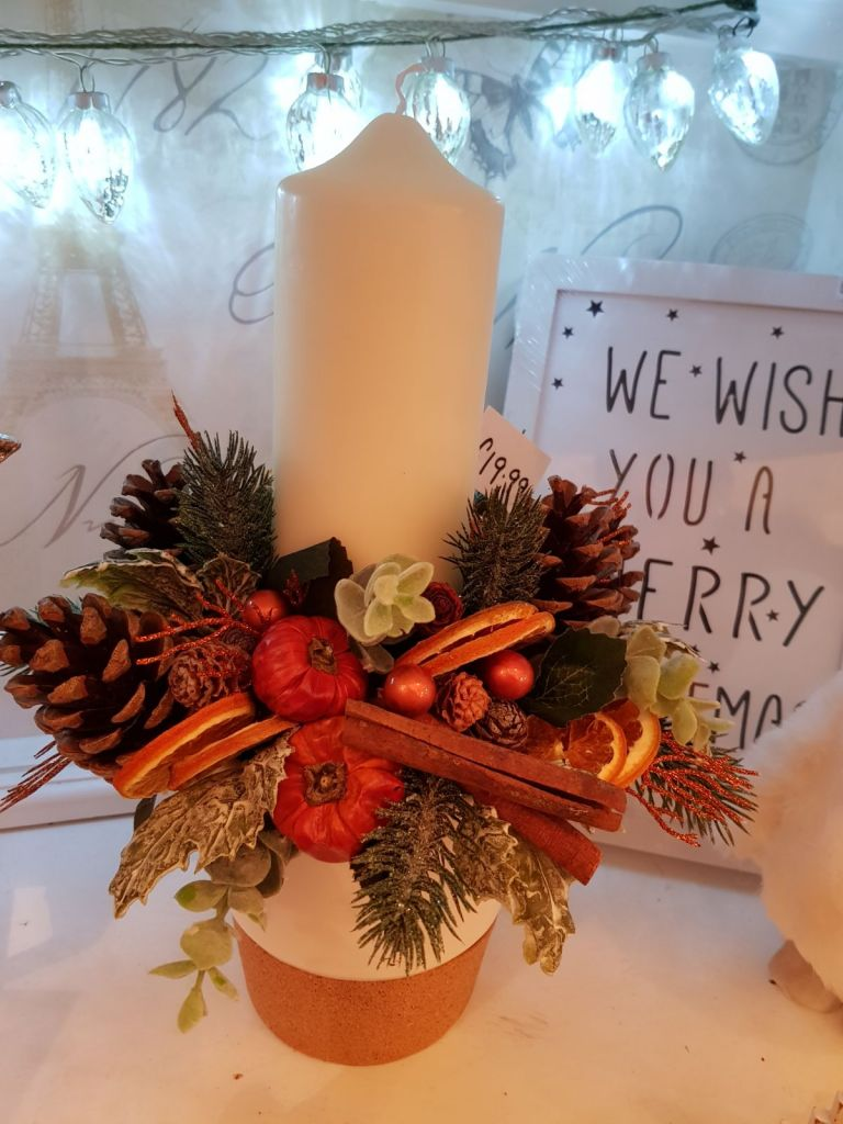 Christmas floral arrangements and wreaths by Rugeley Florist Fine Flowers