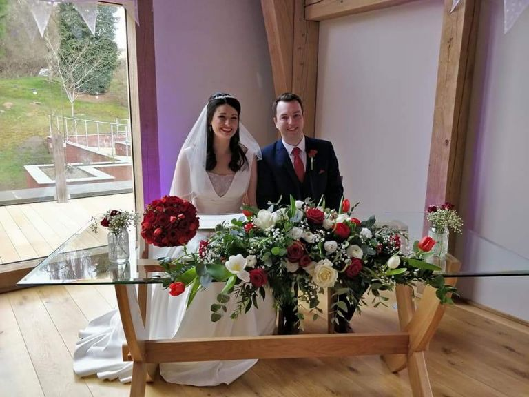 Gorgeous wedding flowers for your Mill Barns wedding by Recommended Mill Barns wedding florist - Rugeley Floral Studio Fine Flowers