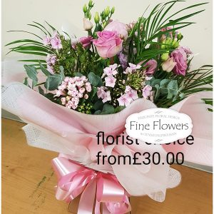 Florist choice valentine bouquet - boxed or in a bag.