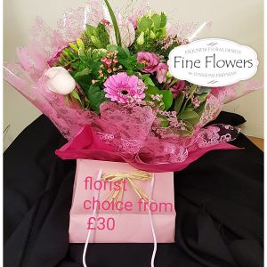 Handtied flower bag, this will include a mix of seasonal flowers of florist choice.